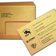 Печать на конвертах с клюющейся лентой фото