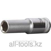Торцовая головка Kraftool Industrie Qualitat , удлиненная, Cr-V, Flank , хромосатинированная, 1/2, 16 мм Код:27807-16_z01 фото