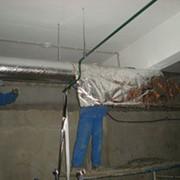 Монтаж огнезащиты строительных конструкций и воздуховодов систем вентиляции фото