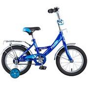 """Велосипед NOVATRACK 14"""", Vector, синий, тормоз нож., крылья и багажник хром. #077392 фото"""