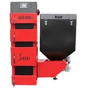 Котел твердотопливный Metal-Fach Sokol SD DUO BIO-19 19 кВт (170-220 м2) правый бункер