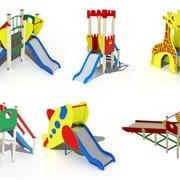 Детские горки игровые на площадку фото