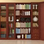 Библиотека «Марта» (цвет - орех) фото