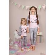 Пижама для девочки с принтом в виде котенка Ellen GNP006/001 З фото