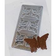 Пластиковые формы для шоколада Бабочки,формы для отливки шоколада фото
