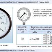 Манометры ДМ 05, степень защиты IP-53 фото