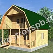 Дом из бруса с мансардой 6 х 6 м. фото