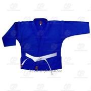 Куртка самбо синяя, рост 150 фото