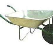 Тачка садовая WB 6203 (65л. оцинк, надувн.) фото