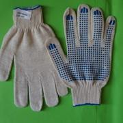 Перчатки х/б с ПВХ ТОЧКА 10класс, 3-нит. фото