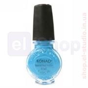 Лак для стемпинга Konad Sky Pearl (голубой) 11 мл фото