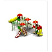 Детский игровой комплекс ДИК H г.=1,2м нерж.-1шт. H г.=2,0м пласт.-2шт (5310) фото