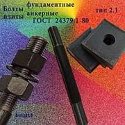 Болты фундаментные с анкерной плитой тип 2.1 м48х2500 (шпилька 3) Ст3 ГОСТ 24379.1-80 (масса шпильки 35.49 кг) фото