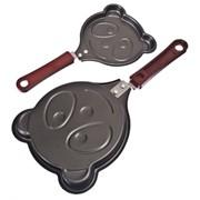 Мини-сковорода а/п углеродная сталь, d13,5см, Забавные животные, 2 дизайна 846-214 фото
