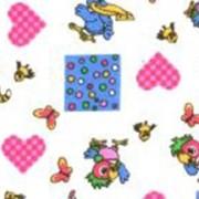 Ткань постельная Фланель 175 гр/м2 90 см Набивная/детская попугай Кеша на белом/S501 VST фото