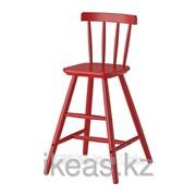 Детский стул красный АГАМ фото