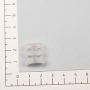 Фиксатор пластик 105Т цв прозрачный для двух шнуров (уп 100шт) фото