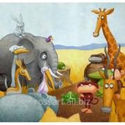 Детская картина Африка фото