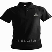 Рубашка поло SsangYong черная вышивка белая фото