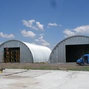 Зернохранилища. Бескаркасные ангары фото