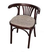 Деревянное венское кресло Марио с мягким сидением фото