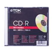 Диск CD-R TDK 700 MB 52х, Slim Case фото