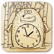 Часы-конструктор деревянные - Медведь раскраска фото