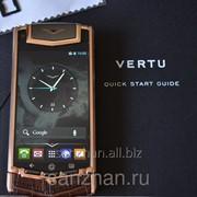 """Телефон Vertu Ti Android 4.2 MTK6589 4 ядра RAM 1 gb ROM 8 gb 3,7"""" з/у на 6000 Am. Gold Alligator 86937 фото"""