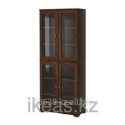 Шкаф-витрина, коричневый БОРГШЁ фото