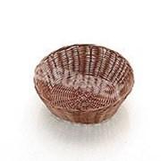 Хлебница плетен.ротанг коричневая.круглая d=20.h=7см SUNNEX LQ-NEW фото