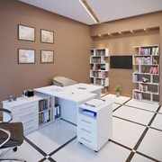 Комплект офисной мебели Сокол Р К1 Белый фото