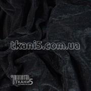 Ткань Велюр (Черный) 103