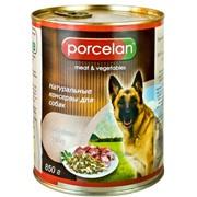 Консервы для собак PORCELAN Говядина + рубец 850г фото
