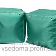 Зеленый пуфик кубик 35*35*35 см из ткани Оксфорд фото