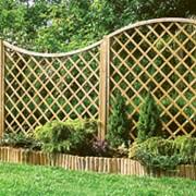 Решетка заборная диагональная дуга вверх/вниз фото
