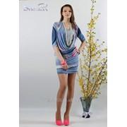 Платье 1434 Голубой цвет фото