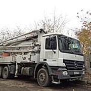 Услуги бетононасоса 42м фото
