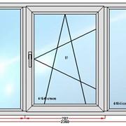 Окно пластиковое 1100х2360 фото