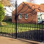 Кованые ворота Арт. КВ-01 фото