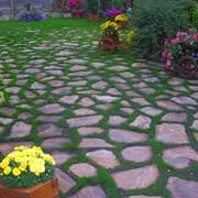Камень на садовые дорожки - песчаник фото