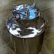 Емкость из нержавеющей стали с герметичной крышкой фото