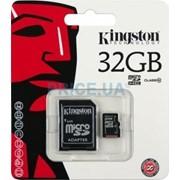 32Gb Kingston карта памяти microSDHC, Class 10, Адаптер SD, SDC10/32GB