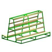 Пирамида «косынки» для хранения и транспортировки изделий из стекла фото