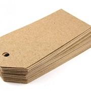 Картонные бирки с высечкой фото