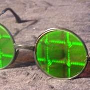 """Солнцезащитные очки с голограммами """"Решетка"""" фото"""