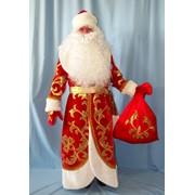 Костюм Дед Мороз Княжеский золотой (бархат, аппликация) фото
