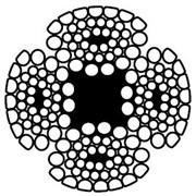 Канат стальной 10мм DURAHOIST 4CS, (  4Vx39S+5FC) фото