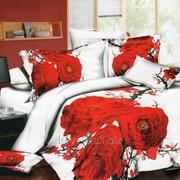 Шикарное постельное в яркие цветы РС0206 фото