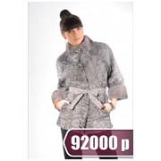 Шуба меховая, BLG 5544, серая фото