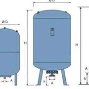 Мембранные баки (гидроаккумуляторы) для систем водоснабжения DE фото
